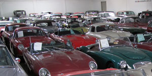 Vintage European Car Showroom