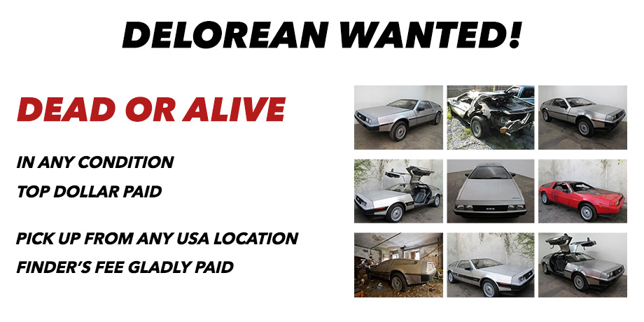 Deloreans For Sale >> We Buy DeLoreans | Used DMC-12 Cars | Sell Delorean | AlexManos.com