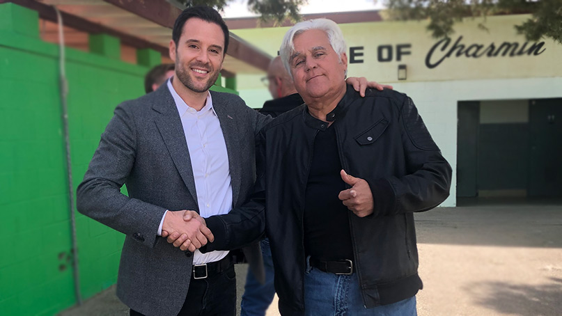 Jay Leno with Alex Manos